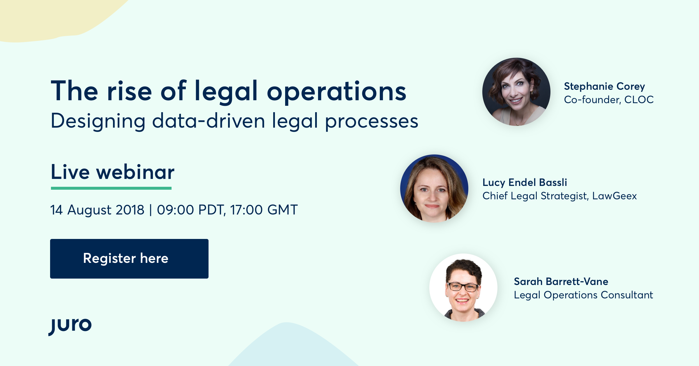 Webinar – The Rise Of Legal Operations: Designing Data-driven Legal Processes